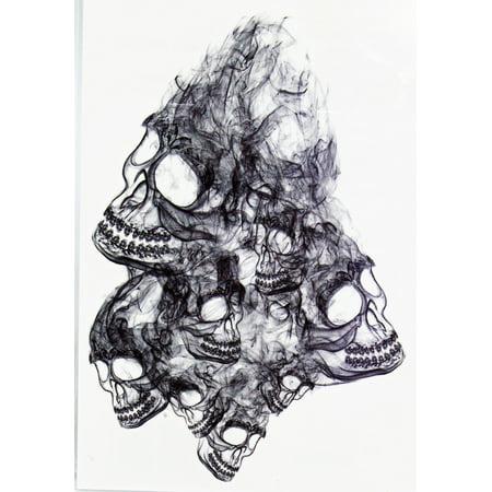 Agravado tatuaje temporal wisping cráneos de Siniestro