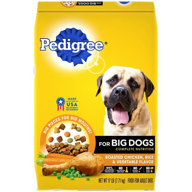 Pedigree For Big Dogs Adult Complete Nutrition Dry Dog Food Roasted Chicken Rice Vegetable Flavor 17 Lb Bag Walmart Com Walmart Com