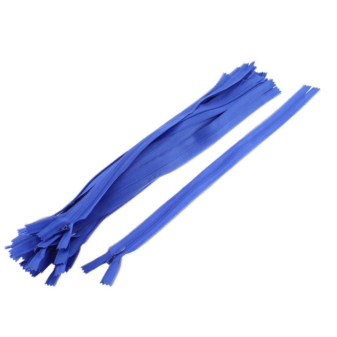 Black Invisible Nylon Zips Zipper Fastener 14-inch 20 Pcs