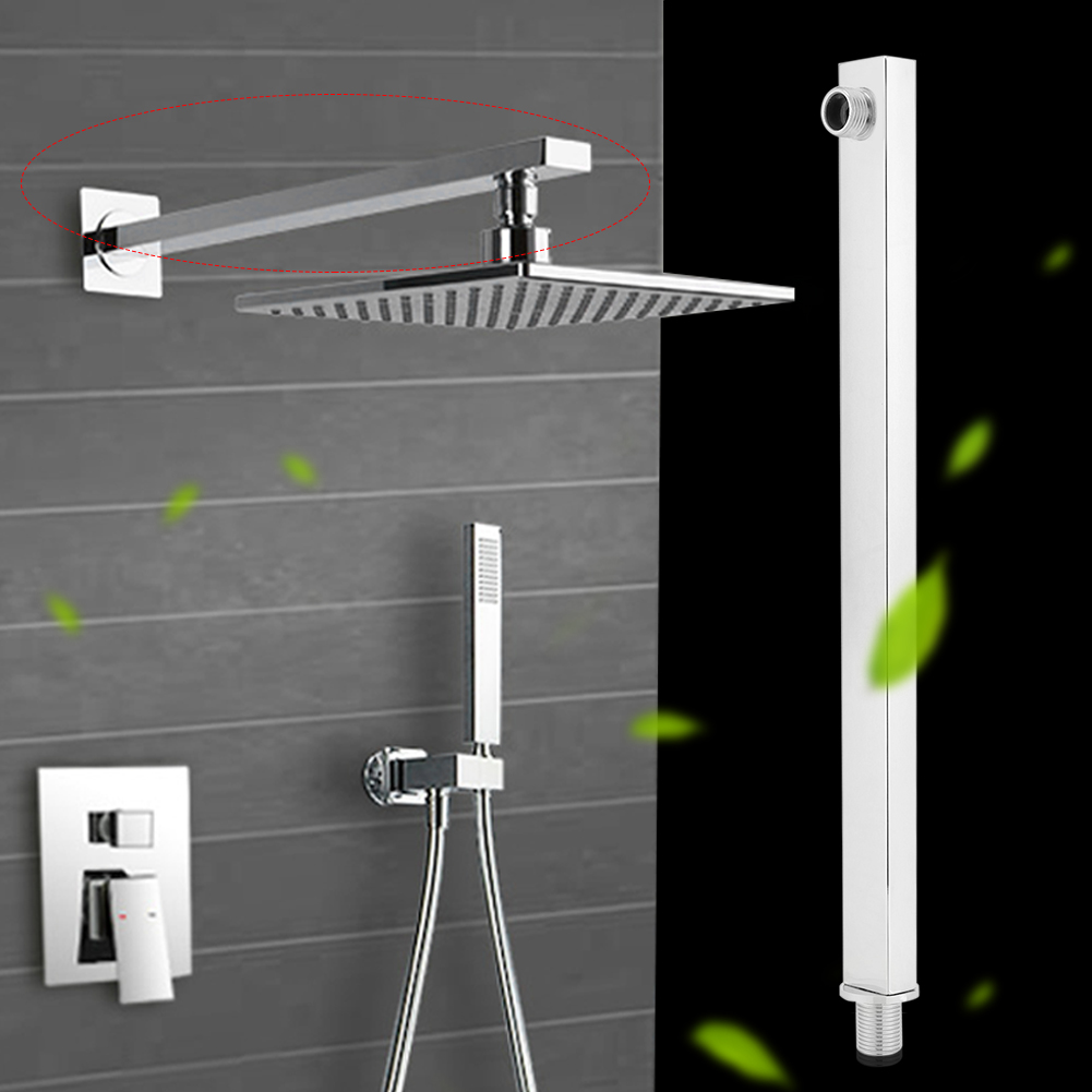 35cm Stainless Steel Solid Construction Wall Mounted Shower Extension Arm for Shower Head , Bathroom Tool, Shower Extension