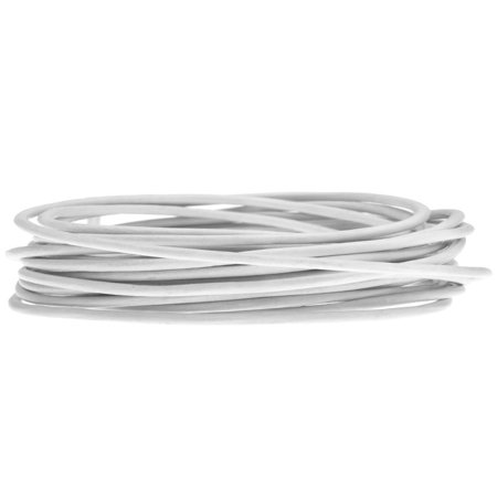 Genuine Leather Cord, Round 1.5mm,  By the Yard, White Genuine Round Leather Cord