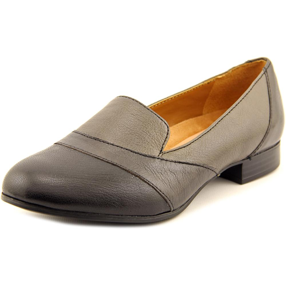 Naturalizer Coretta Women W Round Toe Leather Gray Loafer by Naturalizer