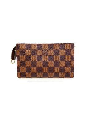 b060ca2e0333 Product Image Poche Damier Ebene Zip Pouch 227809 Brown Coated Canvas Clutch.  Louis Vuitton