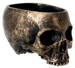 2 X 1 X Bronze Resin Halloween Skull Candy Bowl Dish Statue Sculpture Skeleton By YTC by