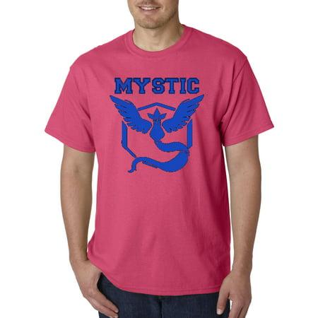 514 - Unisex T-Shirt Pokemon Go Team Mystic Emblem Logo (Pokemon T-shirt Tee)