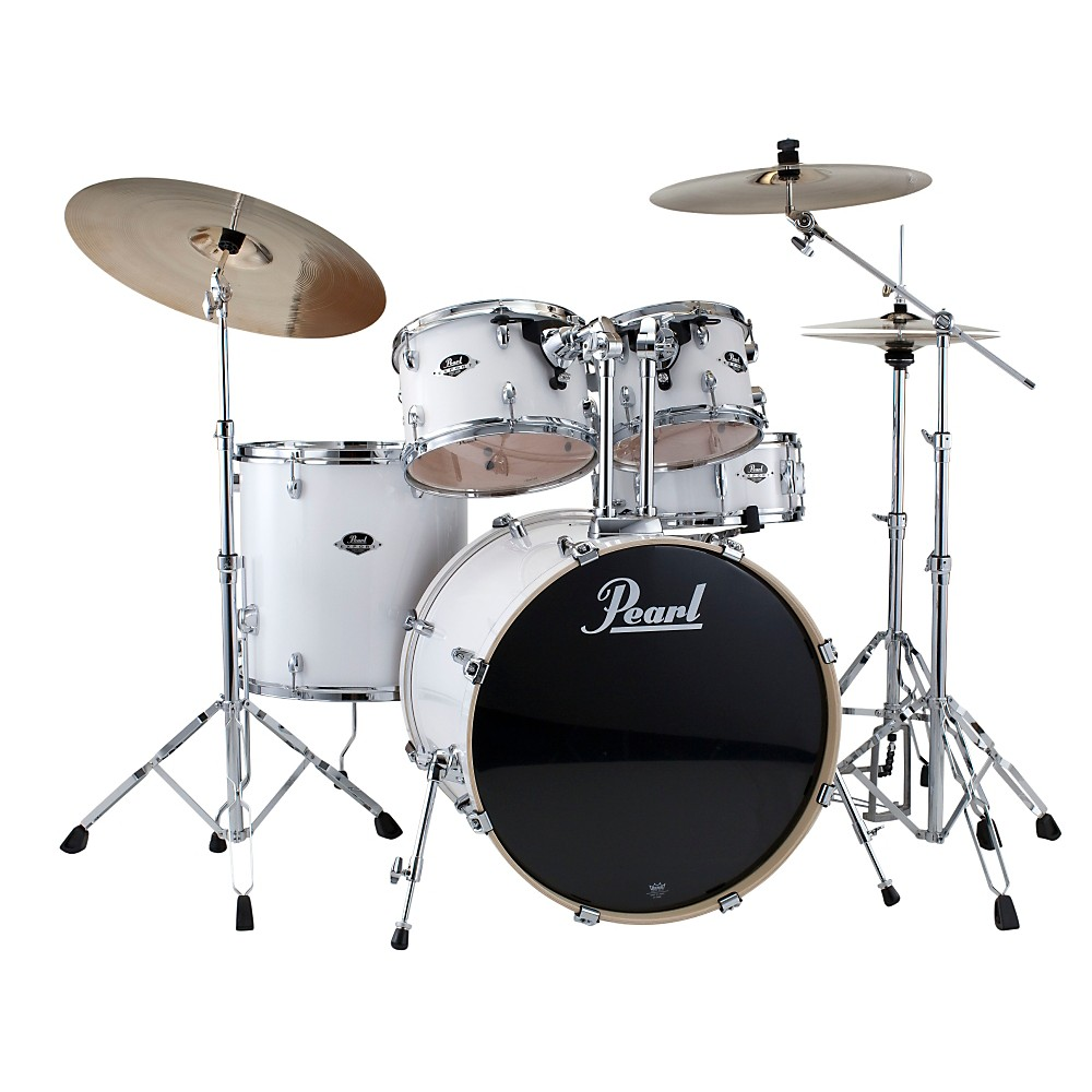 Pearl Export Standard 5-Piece Drum Set with Hardware Pure White by Pearl