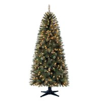 Holiday Time Pre-Lit 7' Brookfield Fir Artificial Christmas Tree, Clear-Lights