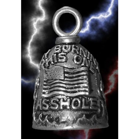 - guardian try burning this a*****e us flag motorcycle biker luck gremlin riding bell or key ring