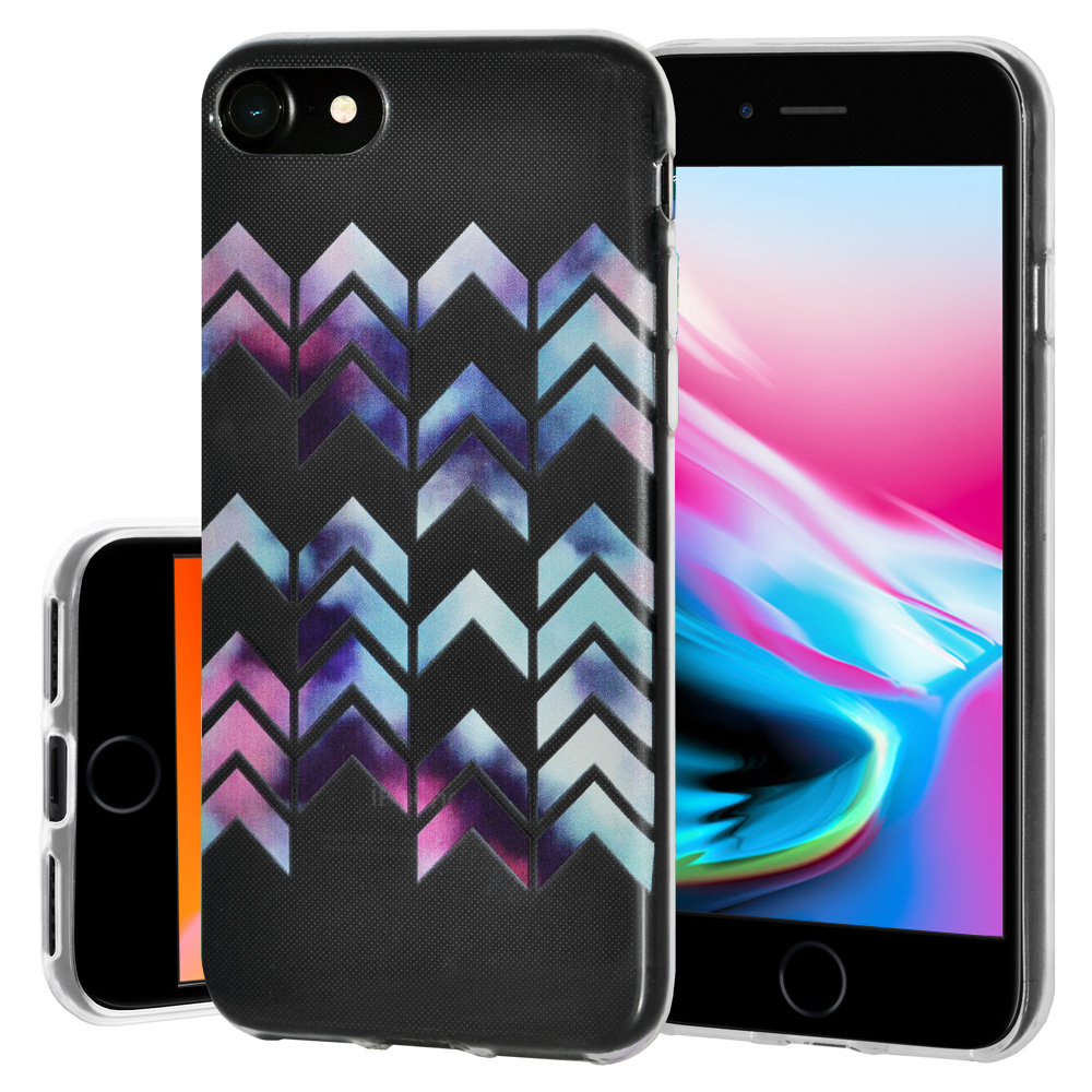 iPhone 8 Case, Soft Gel TPU Case Clear with Design Modern Arrow Slim Protective Cover (Semi-transparent, Anti Scratch,Flexible) for iPhone 8