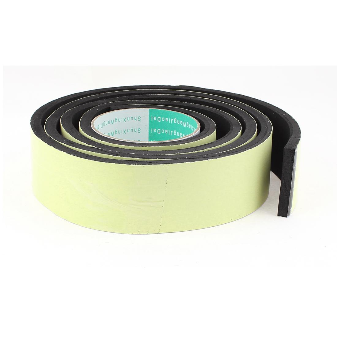 2M Long 50mm x 8mm Door Window Single Side Adhesive Foam Sealing Tape Strip