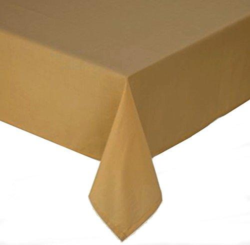 Wheat Gold Tuscan Laminated Fabric Tablecloth 60 X 120