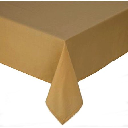 Wheat gold tuscan laminated fabric tablecloth 60 x 120 for Tablecloth 52 x 120