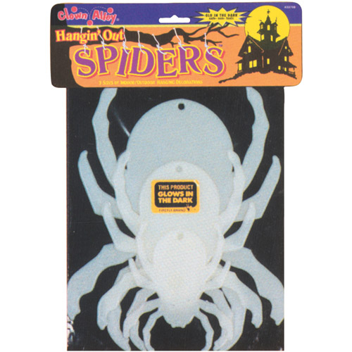 Glow-in-the-Dark Hanging Spider Halloween Decoration