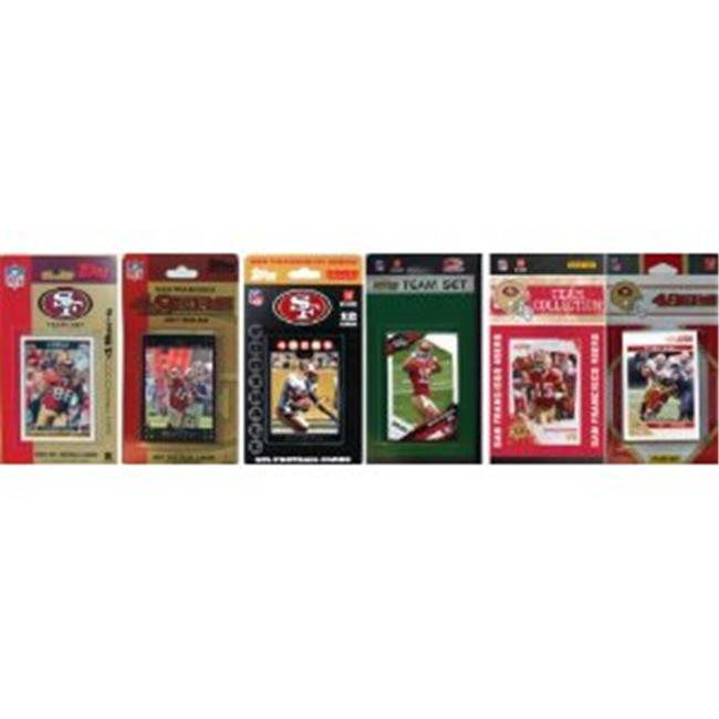 C & I Collectables 49ERS611TS NFL San Francisco 49ers 6 Different Licensed Trading Card Team Sets