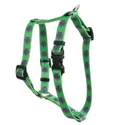 Yellow Dog Design Knotted Shamrock 20-Feet to 28-Feet Harness, Large