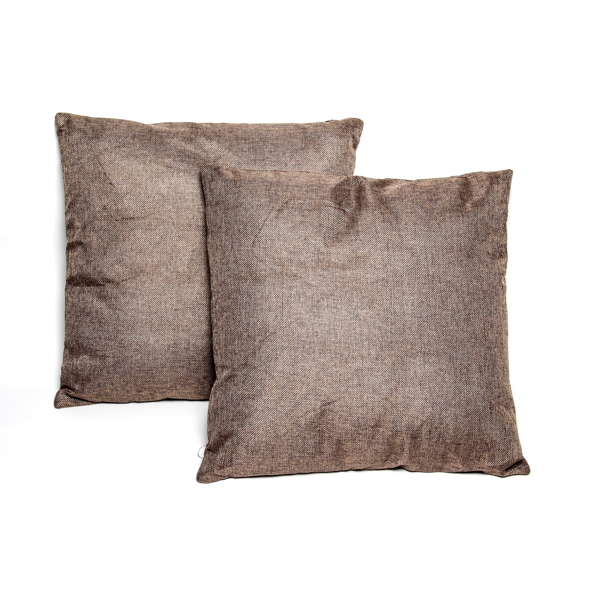 TrendyHomeGoods Dark Brown 16-inch Throw Pillows (Set of 2) by Overstock