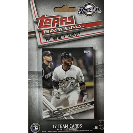 Milwaukee Brewers 2017 Topps Factory Sealed Special Edition 17 Card Team Set with Ryan Braun - Special Edition Brewer