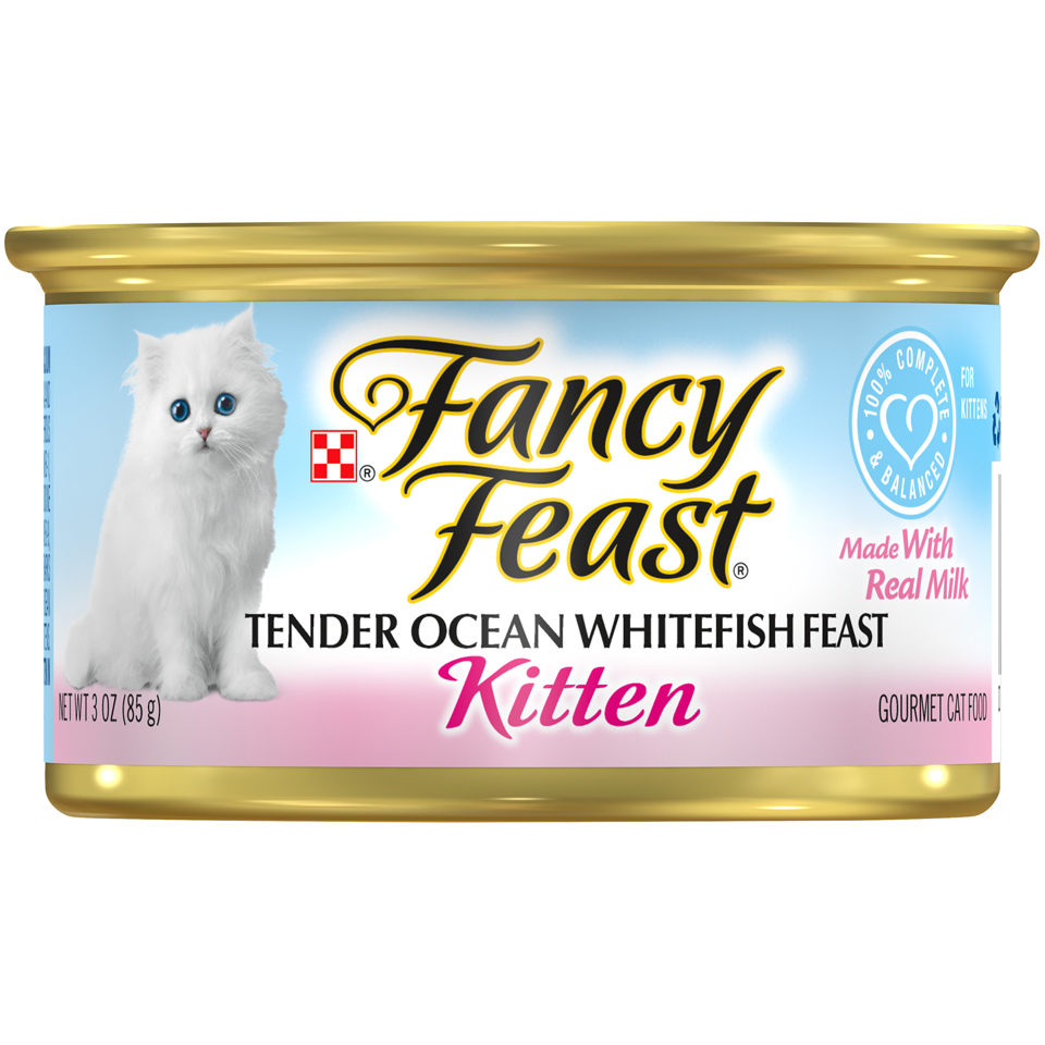 Purina Fancy Feast Tender Ocean Whitefish Feast Wet Kitten Food - 3 oz. Can