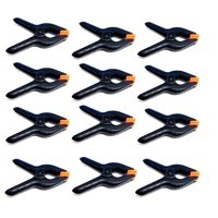 Heavy Duty Spring Clamps Clip 3.75 Inch for Muslin/Paper Photo Studio Backdrops Background-12 Pack(Black)