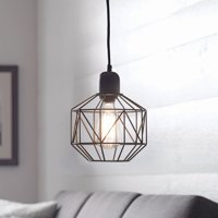"Better Homes & Gardens 9.25"" Metal Cage Swag Pendant Light, Bronze Finish"