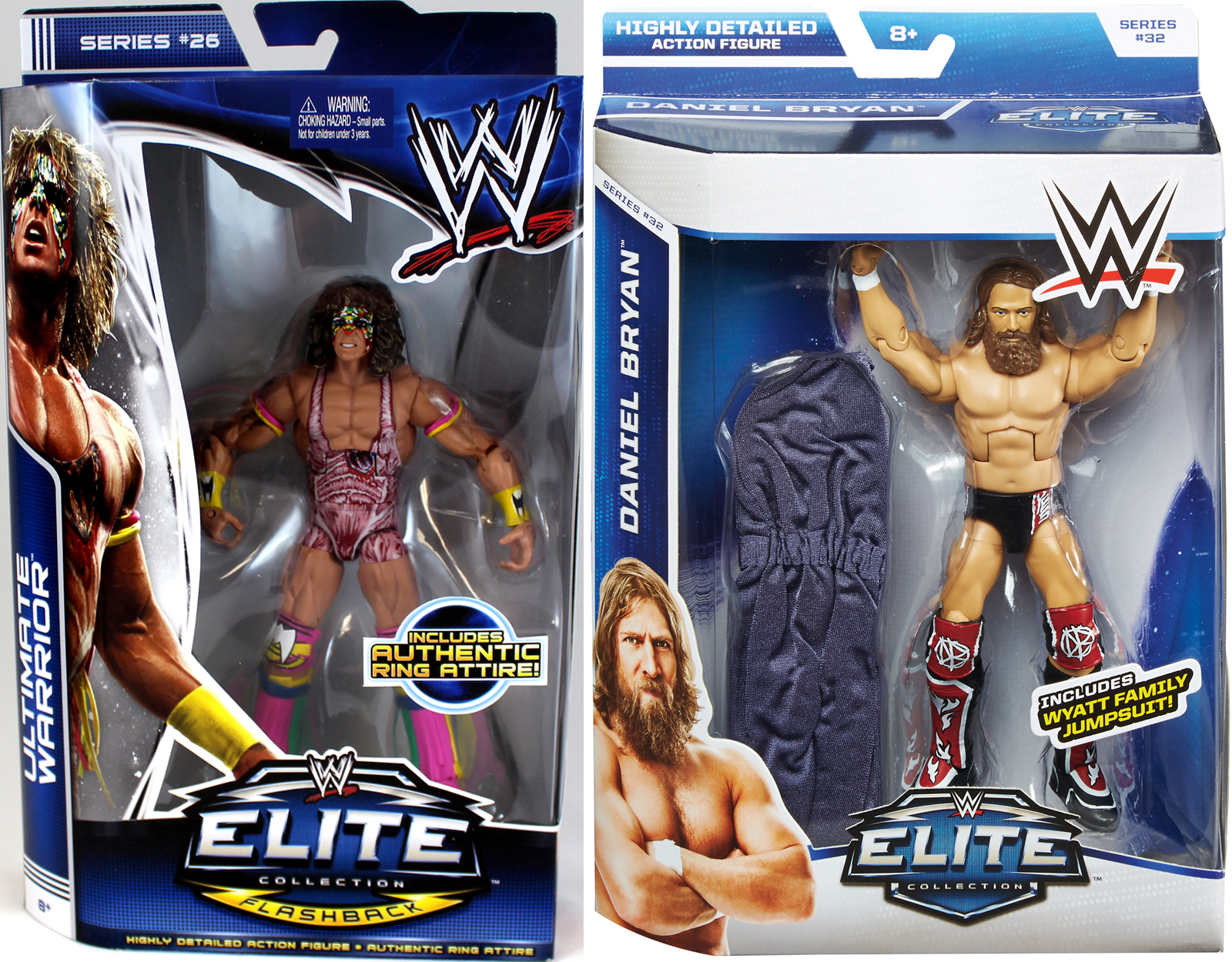 Connor's Cure Package Deal (Ultimate Warrior WWE Elite 26 & Daniel Bryan WWE Elite 32) WWE... by