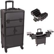 Sunrise I3464DTAB Black Dot Trolley Makeup Case - I3464