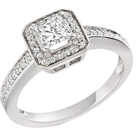 Harry Chad Enterprises 26670 2.60 CT 14K Princess & Round Cut Diamonds Ring - White Gold - image 1 of 1