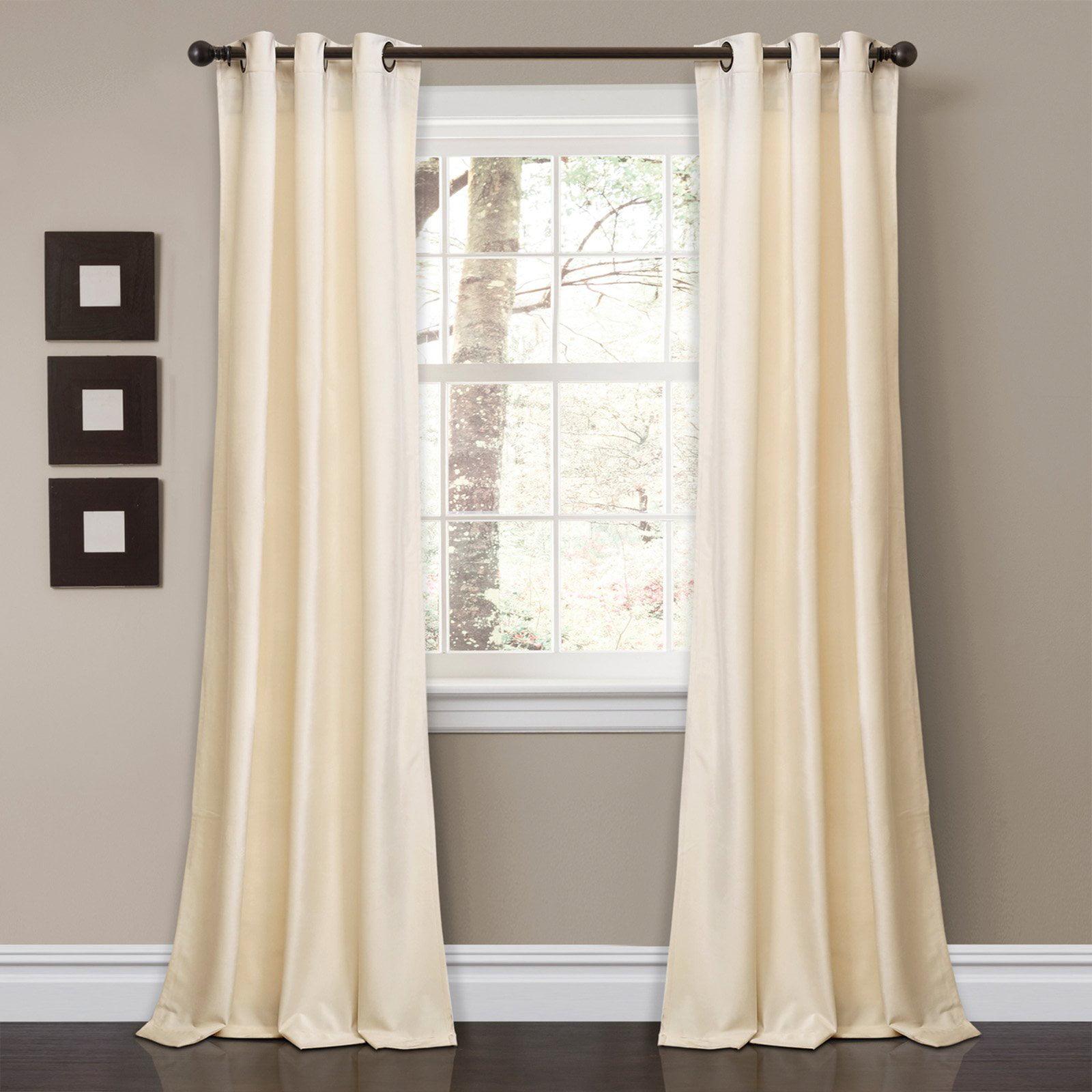 Room Darkening Window Curtain Ivory
