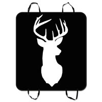 ZKGK Deer Silhouette Dog Car Seat Cover Dog Car Seat Cushion Waterproof Hammock Seat Protector Cargo Mat for Cars SUVs and Trucks 54x60 inches