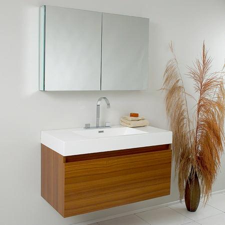 Fresca Mezzo 39-in. Modern Single Bathroom Vanity & Medicine Cabinet FVN8010BW