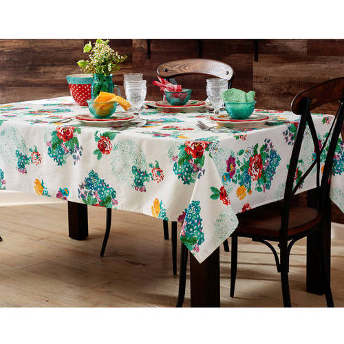 """The Pioneer Woman Country Garden Tablecloth, 52""""W x 70""""L"""