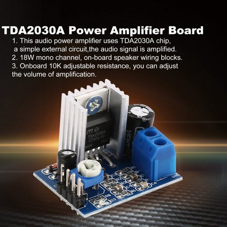 HC-TOP TDA2030A Super Mini DC 6-18V Power Audio Amplifier Board Module Dual Channel - image 1 of 6