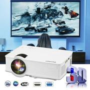 Excelvan Mini LED Projector 800x480 Pixels 1200 Lumens Home Cinema Theater HDMI/USB/USB(5V)/SD/AV/VGA/3.5mm EHD09 - Best Reviews Guide