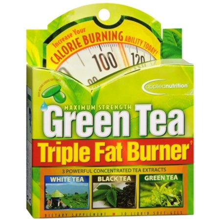 2 Pack - Applied Nutrition Green Tea Triple Fat Burner Liquid Soft-Gels 30 Soft