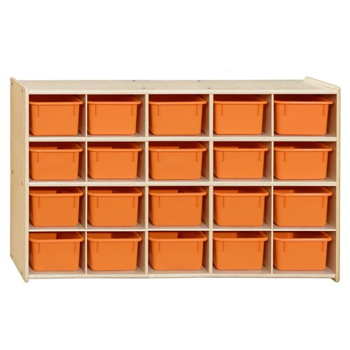 Wood Designs Contender 20 Compartment Cubby with Trays