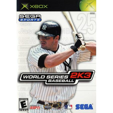 sega sports: world series baseball 2k3 - xbox