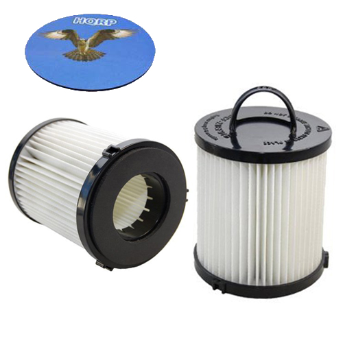 HQRP HEPA Dust Cup Filter 2-Pack for Eureka AirSpeed PET AS1008AX AS1008, AirSpeed Rewind Pet AS1041A Vac Vacuum Cleaner + HQRP Coaster