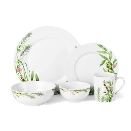 Mikasa Herbal Fields 20-Piece Porcelain Set, 20 Piece Set, Service for (Mikasa Ridge)