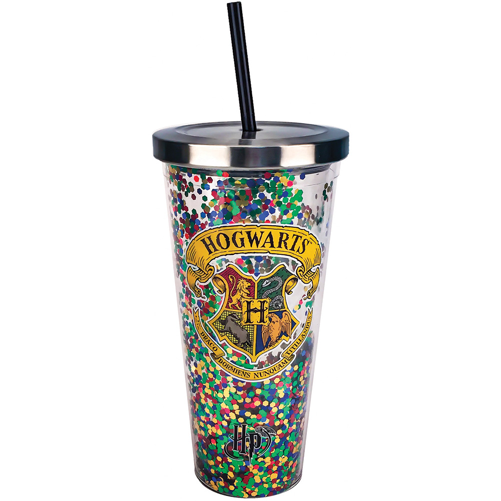 Harry Potter Hogwarts Acrylic 20 Ounce Travel Cup w/ Straw & Stainless Lid
