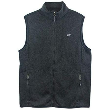 Vineyard Vines Men's Graphite Sweater Fleece Vest (S) Small $145.00 ()