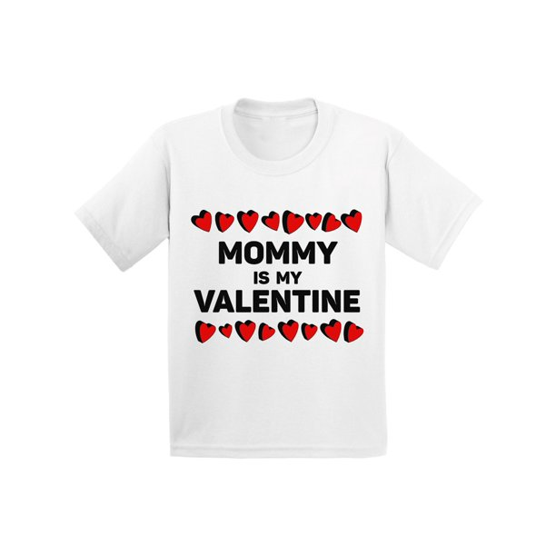 Awkward Styles Awkward Styles Mommy Is My Valentine Tshirt For Toddler Boys Cute Gifts For Boys Mom Boys Valentine Shirt Funny Valentines Tshirt For Toddler Boys Valentine Gifts For Kids Cute