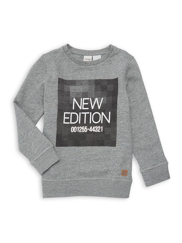 Boy's Heathered Graphic Sweatshirt