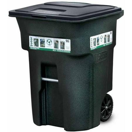 Toter 96 Gallon 2 Wheel Trash Can Cart Greenstone Walmart Com