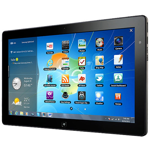 """Samsung Series 7 Slate XE700T1A with WiFi 11.6"""" Touchscreen Tablet PC Featuring Windows 7 Professional, Black"""