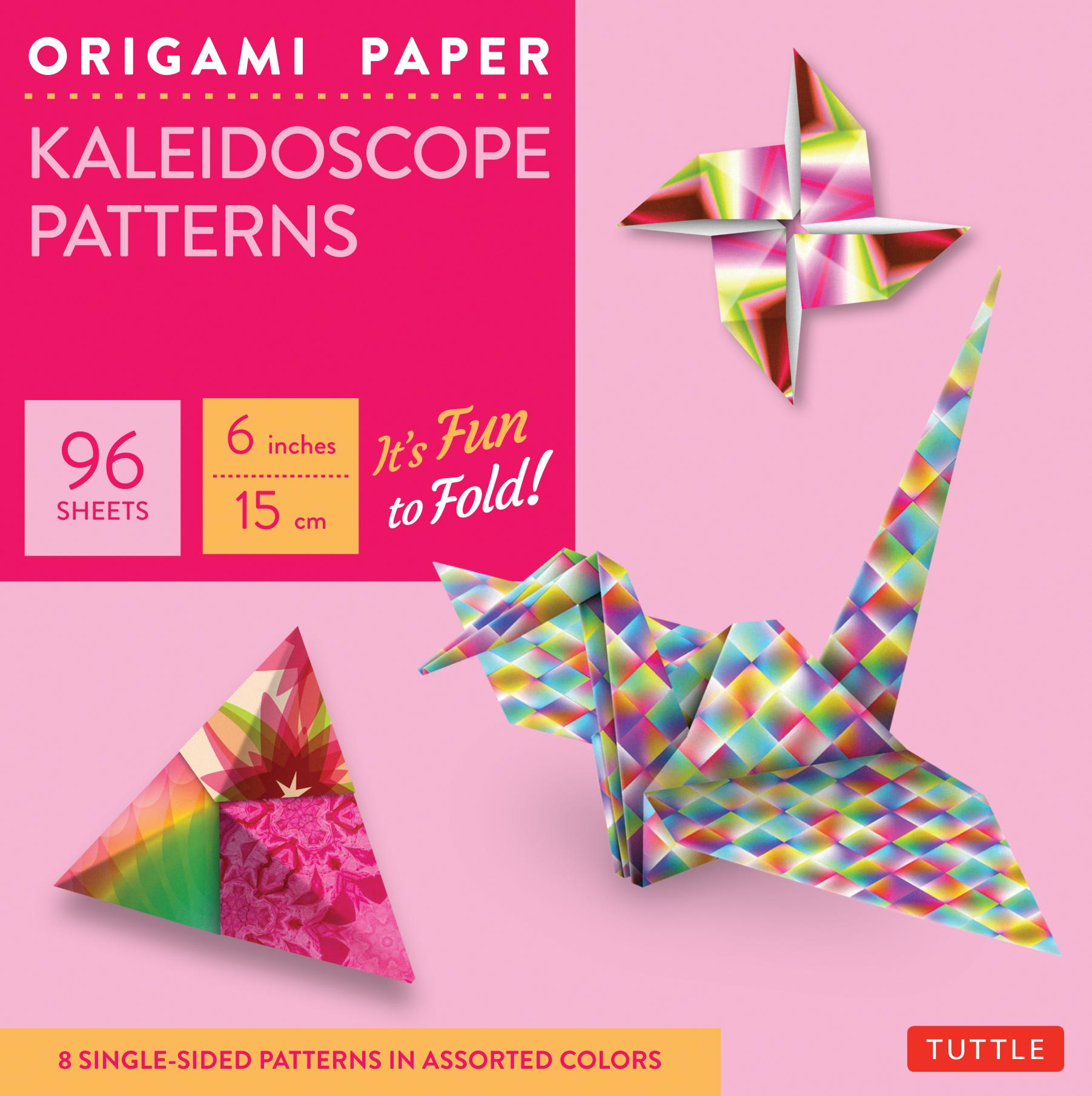 "Origami Paper - Kaleidoscope Patterns - 6"" - 96 Sheets: Tuttle Origami Paper: High-Quality Origami Sheets Printed with 8 Different Patterns: Instructions for 7 Projects Included (Other)"