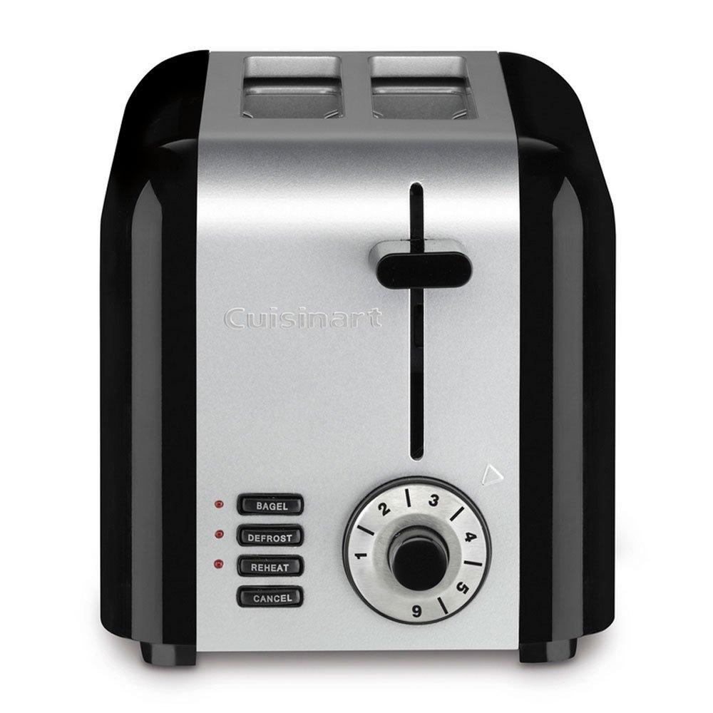 Cuisinart 2-Slice Stainless Steel Black Compact Toaster (Certified Refurbished)