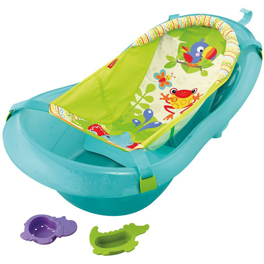 Fisher-Price Rainforest Friends Tub with Johnson\'s Baby Shampoo ...