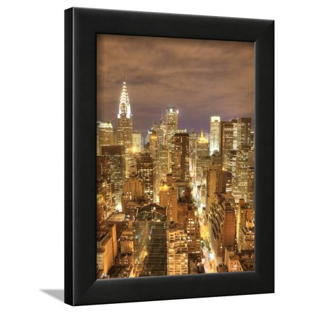 Skyline Framed (Chrysler Building and Midtown Manhattan Skyline, New York City, USA Framed Print Wall Art By Jon Arnold)