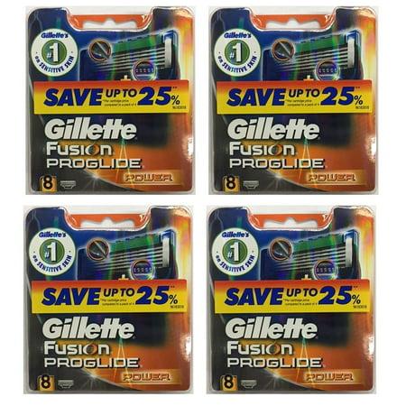 Gillette Fusion ProGlide Power Refill Cartridge Blades, 32 Count (4 Packs of 8) + Schick Slim Twin ST for Sensitive Skin