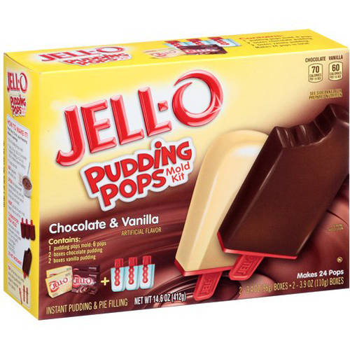 Jell-O Pudding Pops Chocolate & Vanilla Mold Kit, 9 pc